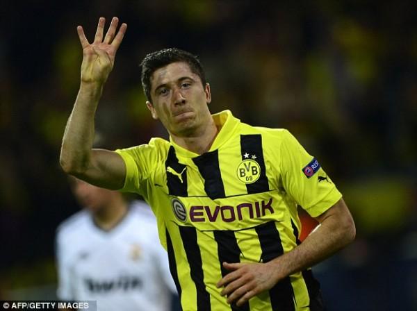 Lewandowski Has Scored Six Goals in Europe This Season for dortmund.
