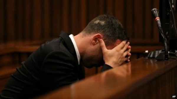 Oscar Pistorius Breaks Down in Court During Trial.