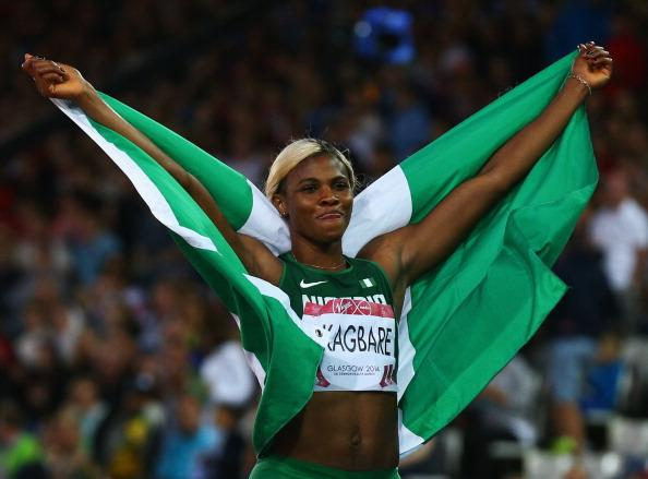 Blessing Okagbare Completes Commonwealth Games Sprint Double. Image: BBC via Getty Image.