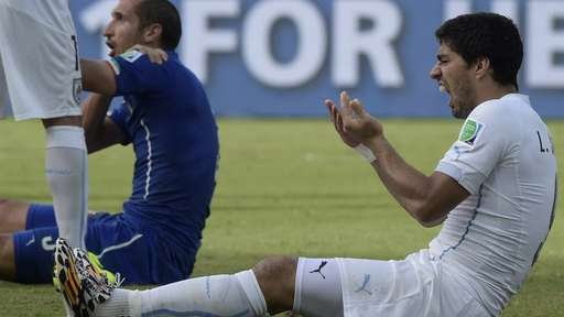 Luis Suarez Was Handed a Four Month Ban from All Football-Related Activities for Biting Giorgio Chielini of Italy at the World Cup.