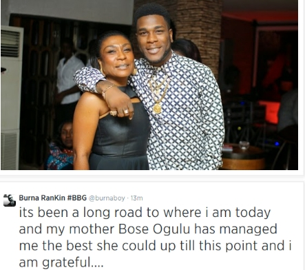 Burna Boy's Mother laughing at his decision on married!