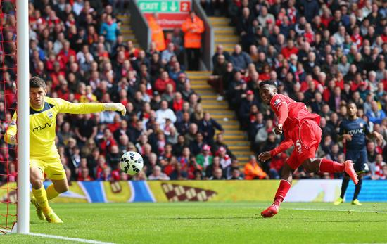 Daniel Sturridge Scores Liverpool's Winner on the Opening Day of the 2014/15 Premier League Season. Getty Image.