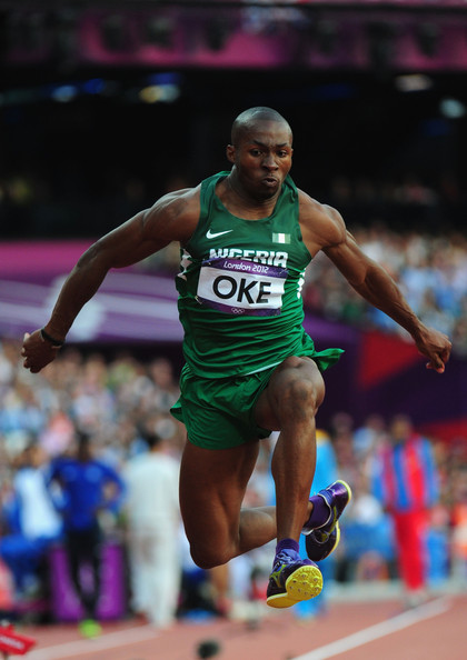 Tosin Oke Competing at the 2012 Olympic Games.