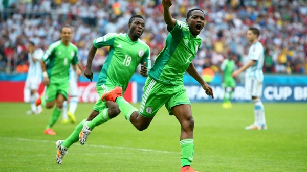 Ahmed Musa Celebrates Scoring Against Argentina at the World Cup. Image: Getty.