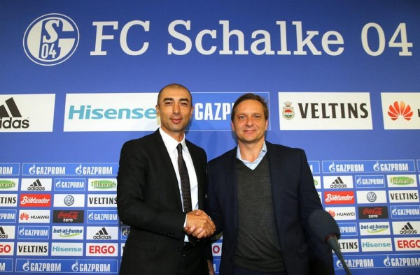 Roberto Di Matteo's Schalke Will Face Chelsea on 25th November. Image: Twitter @s04_en.
