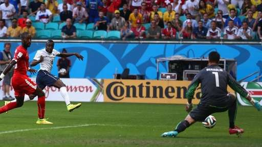 Blaise Matuidi Strikes for France Against Switzerland During the 2014 Fifa World Cup. Image: Getty.