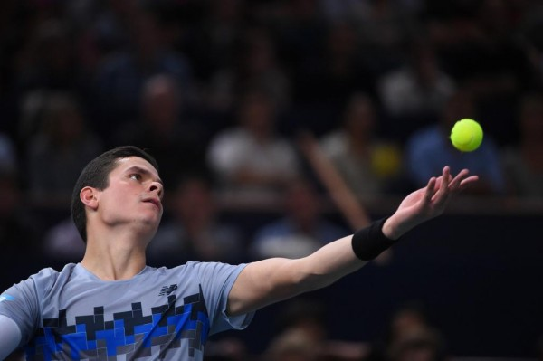 Milos Raonic Withdraws from ATP World Tour Finals With a Quad Tear. Image: Getty.