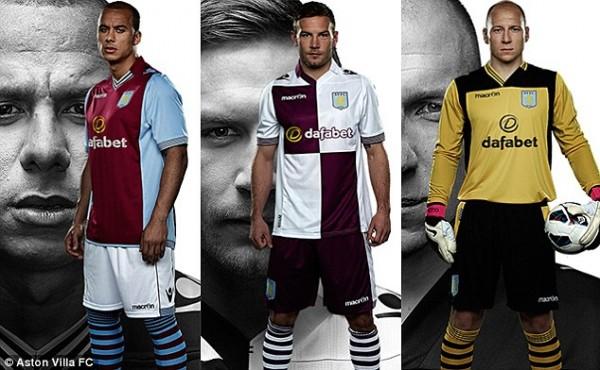 Aston Villa's Home and Away Kit.