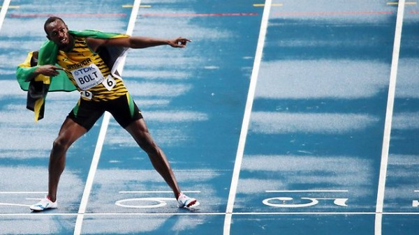 Usain Bolt After Regaining His 100m World Title.