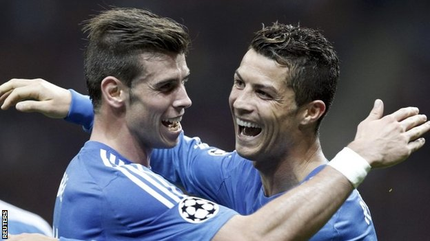Gareth Bale and Cristiano Ronaldo Hugged After the Welshman Assisted the Portuguese to a Goal.