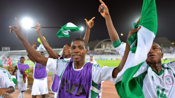 Photo Credit: Getty Image. Golden Eaglets Celebrates Winning Defending Champions Mexico.