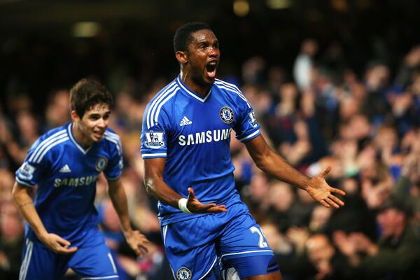 Samuel Eto'O, Fernando Torres and Demba Ba Have Now Scored Five Premier League Goals Between Them.