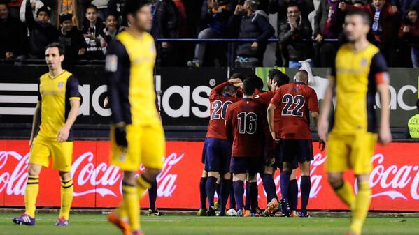 Atletico Madrid Beaten 3-0 at Osasuna.