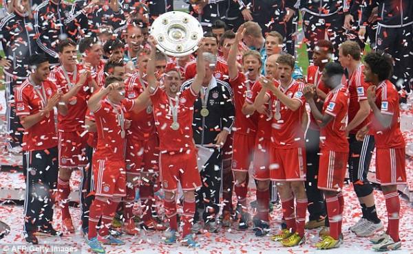 Bayern Won the  Bundesliga Last Season With Six Games To Spare.