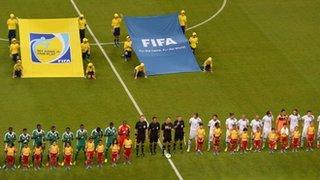 Super Eagles Line-Up vs Uruguay at Last Year's Confederation Cup.