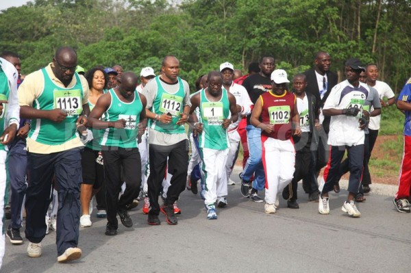 Governor Adams Oshiomole Leads Other Top Government Officials and Dignitaries at the Okpekpe Road Race.