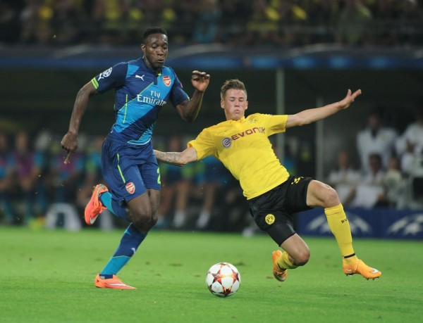 Danny Welbeck Had Two Glorious First-Half Opportunities to Open Scores in Dortmund, But Missed. Image: Getty.