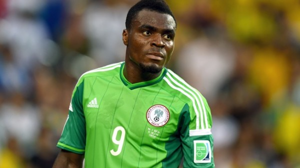 Emmanuel Emenike Not In Nigeria Starting 11 for Congo. Image: Getty.
