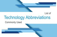 Common Technology Abbreviations for for General Knowledge
