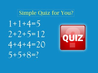 Simple Quiz for You?