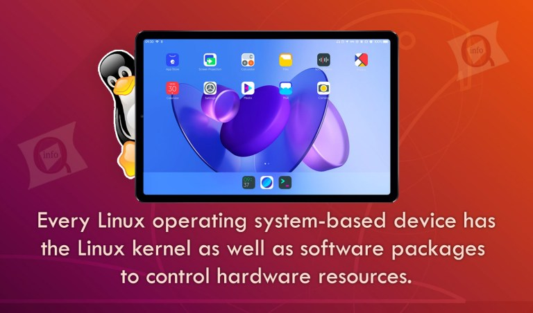 Every Linux operating system-based device has the Linux kernel as well as software packages to control hardware resources.