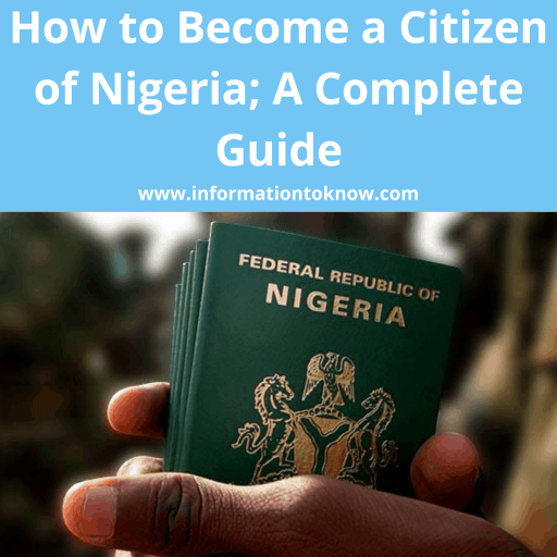 How to Become a Citizen of Nigeria