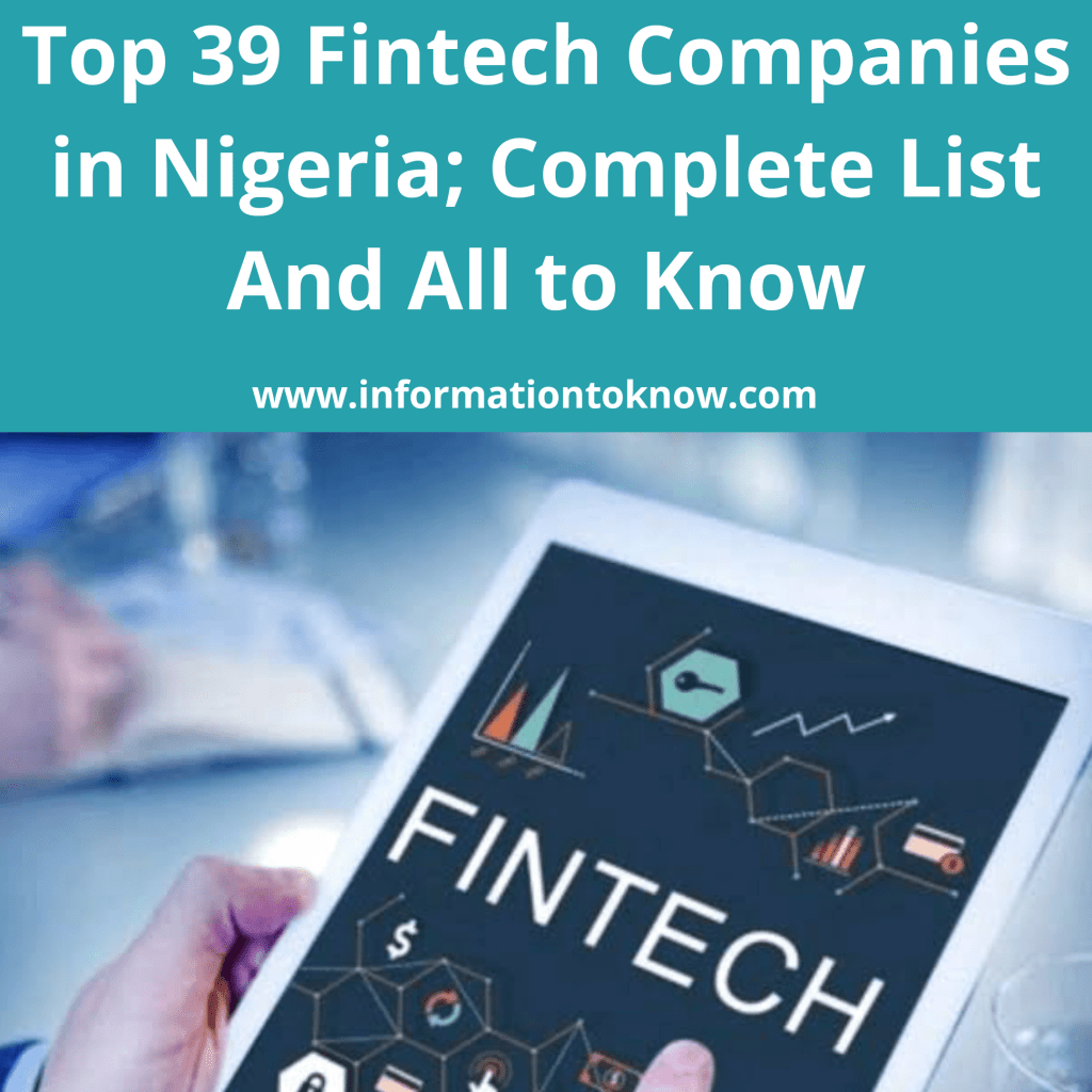 Top Fintech Companies in Nigeria