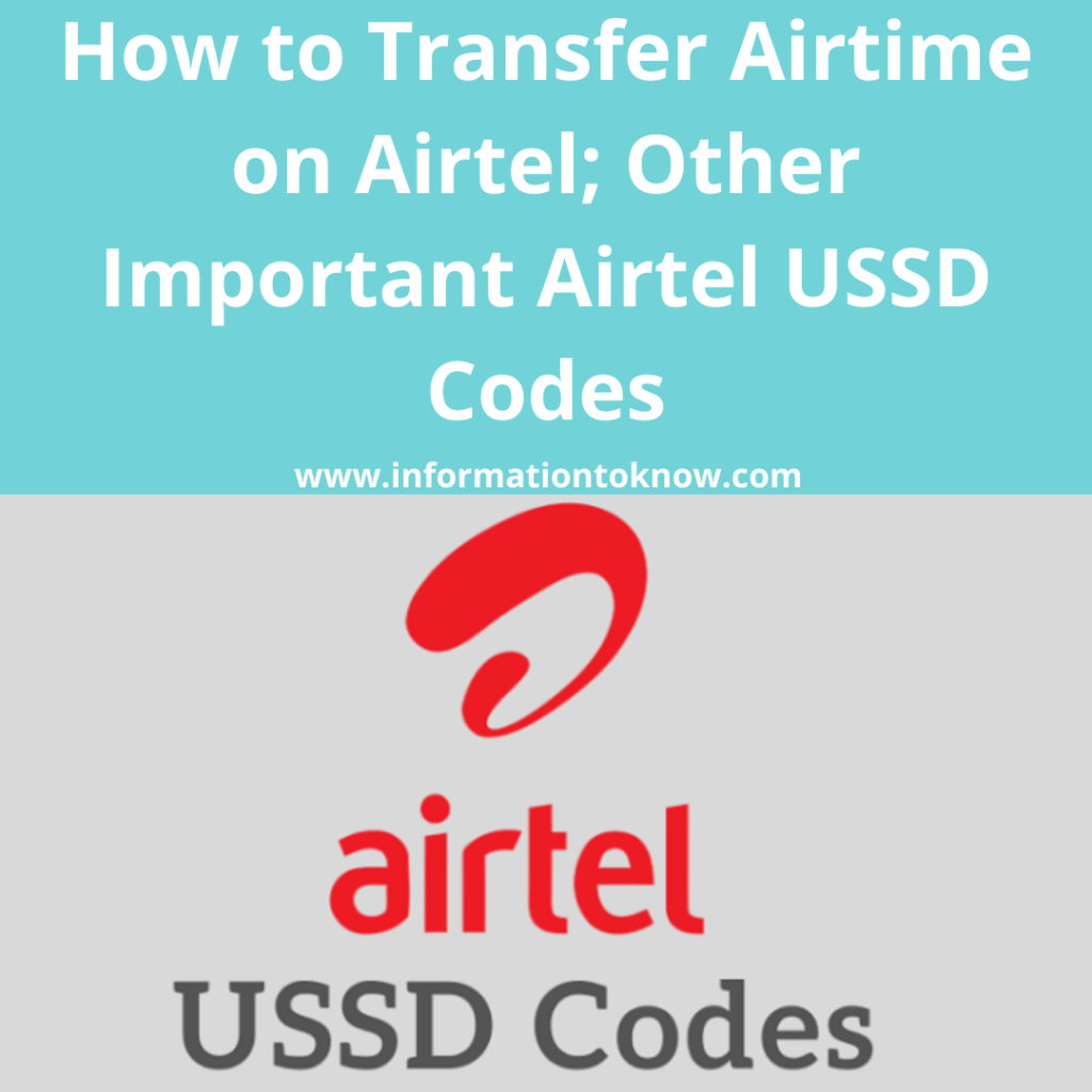 How to Transfer Airtime on Airtel.