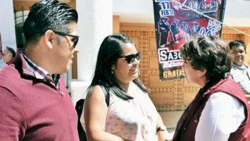 La candidata al gobierno del Edomex visitó varios municipios