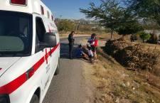 Cae ciclista y se lesiona