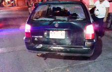 Repartidor se impacta contra vehículo
