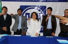"""Naty Díaz, rinde protesta como líder del PAN; """"tiene el respaldo jurídico y político del CEN"""": Adame"""
