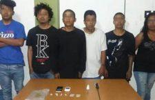 Seis detenidos con drogas y armas en Huajuapan, Oaxaca
