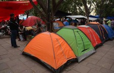 Integrantes de Sección 22 del SNTE, protestan por presencia de Margarita Zavala en Oaxaca