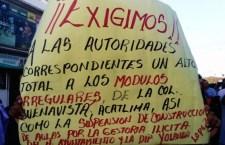 """Piden a gobierno de Huajuapan y diputada """"sacar las manos de los módulos"""""""