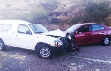 Tres heridos por choque frontal