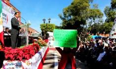 Protestas y operativo policiaco, enmarcaron informe en Huajuapan