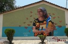 """Nuevo mural de """"Na Rosita"""", aliento y fortaleza después del terremoto"""