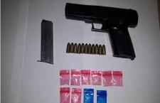 Asegurado por portar arma de fuego y droga en Tecomaxtlahuaca