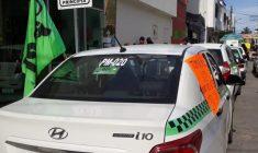 Conflicto, por intención de instalar base de taxis en calle céntrica de Huajuapan