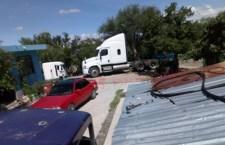 #Avances Catean predio en El Molino; localizan tráiler robado
