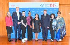 Yalitza Aparicio ofrece conferencia de la OIT en Ginebra, con motivo del Día Internacional de la Mujer