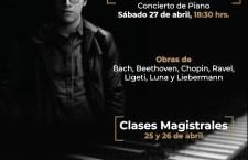 Pianista Manuel Casas compartirá talento musical con Huajuapeños