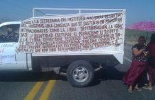 Integrantes de Sol Rojo toman oficinas de CFE en Matías Romero y cierran vialidades