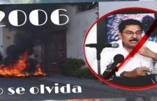 Maestros repudian acto político de Ulises Ruiz Ortiz porque sobre sus espaldas están 27 asesinatos, desapariciones en 2006