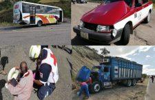 Camión provoca carambola en carretera federal; tres lesionados | Informativo 6 y 7