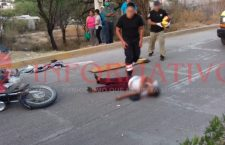 Fallece mujer al ser atropellada por una motocicleta, aseguran al conductor