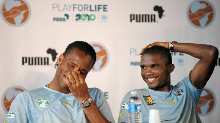 Samuel Eto'o e Drogba são os novos colaboradores oficiais do presidente da CAF
