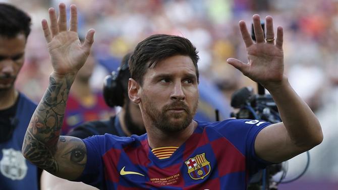 Barcelona: Messi lesionado pode falhar estreia na Laliga