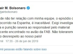Bolsonaro exige punição severa de responsável por drogas em voo